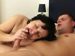 Mom and Boy, 18 19 Teens, Big Tits, Blowjob, Boobs, Bukkake