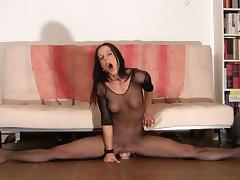 Acrobatic, Dildo, Flexible, Gym, Masturbation, Orgasm
