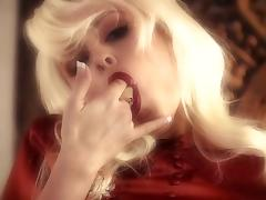 Blonde gets fucked after cock sucking and gets facial jizz in glamour porn