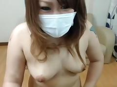 Japanese young cute shaved Mao shows pussy