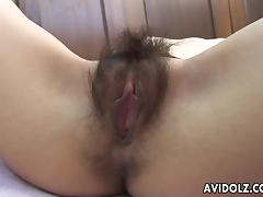 Ayu's wet nad hairy cunt gets to be toy pleased