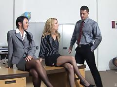 Office, Cougar, Foursome, Group, Hardcore, Horny