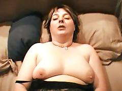 Curvy brunette chubby giving huge dick blowjob in homemade pov  shoot