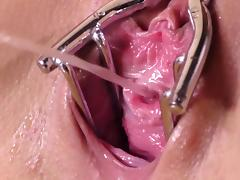 All, Brunette, Close Up, Fetish, Pissing, Speculum