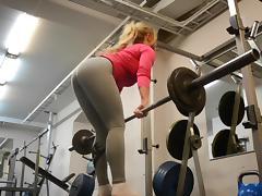 Athletic, Ass, Blonde, Latex, Teen, Yoga