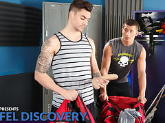 Johnny Torque & Drake Tyler in Duffel Discovery XXX Video