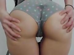 Hot Girl acquire cum on ass