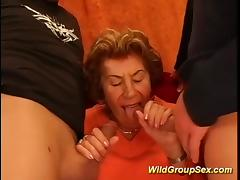 my grandmas first gangbang