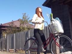Biker, Asian, Biker, Blowjob, Bra, Couple