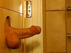 SAN DIEGO--ITALIAN HUNK UNLOADS AT THE GLORYHOLE