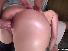 Vanessa Cage rides a hard cock with her round ass