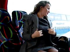 Bus, Amateur, Bus, Fingering, Flashing, Hairy