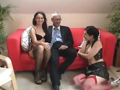 Brunette, Brunette, Group, Hardcore, Old Man, Orgy
