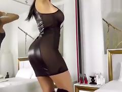 Black, Babe, Big Tits, Black, Brunette, Dress