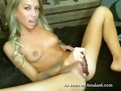 Amateur, Amateur, Dildo, Girlfriend, Masturbation, Skinny