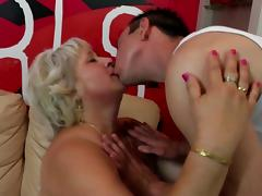 Grandmother suck and fuck young hard cock
