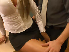 Office, Big Tits, Blowjob, Brunette, Office