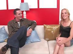 Licking her labia then fucks