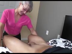 Mom and Boy, Handjob, Mature, Mom, Old and Young, Mother