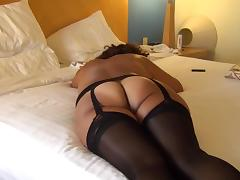 Asian maja show buttocks in b. Lingerie