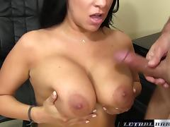 Lacie James seduces friend with her big tits and wet pussy - LethalHardcore