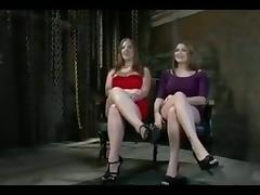Two big boobed girls are humiliated in public
