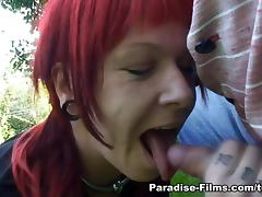 Angel in Outdoor Quickie - Paradise-Films