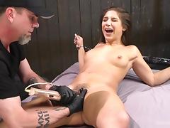 handcuffed abella gets fingered
