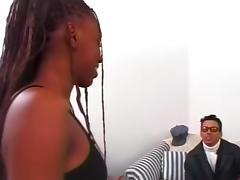 Hot Ebony Natural tits x-rated scene