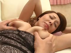 MILF, Asian, Fingering, MILF, Seduction, Stepmom