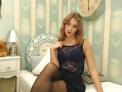 Allure, Adorable, Allure, Babe, Masturbation, Stockings