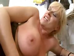 Blonde MILF gets fucked in the ass