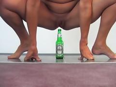 Bottle, Amateur, Beer, Bottle, Dildo, Fucking