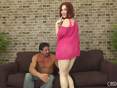 Pale redhead called Jessica Ryan and the cock of her exotic lover