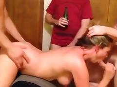 Real Suburban Mom Gangbang Hubby Films