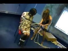Unsuspecting crossdresser bound  gagged   robbed