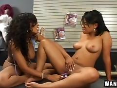 Black Lesbian, Ass, Big Tits, College, Couple, Feet