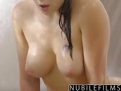 NubileFilms - Hot Shower Sex With Leah Gotti