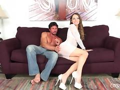 Is Natasha finally ready to taste the cock of the exotic dude?