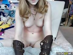 Cute Teen Playing on Webcam
