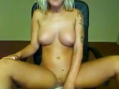 Strip, Ass, Big Tits, Blonde, Boobs, Fingering