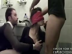 Blindfolded, Amateur, Blindfolded, Blowjob, College, Hardcore
