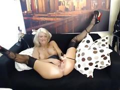 Hottest Homemade movie with Stockings, Masturbation scenes