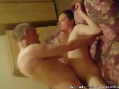 Homemade sex with a MILF in the bedroom