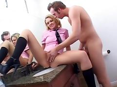 Incredible pornstars Crystal Clear and Emily Evermoore in horny cunnilingus, blowjob porn clip