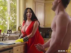 bbw milf maid too good to be true, he must jerk off and cum!