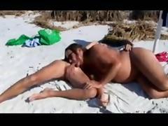 Jamie sucks michelle ts off at the beach!