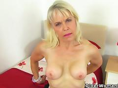 British, British, Granny, Masturbation, Mature, Nylon