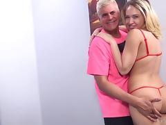 Bra, Big Tits, Blowjob, Bra, Couple, Cumshot