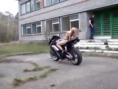 Biker, Biker, Outdoor, Strip, Topless, Tits